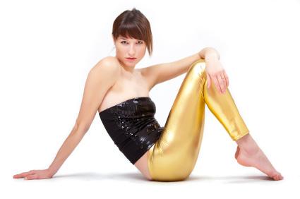 Guld leggings